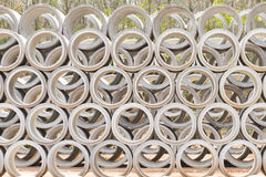 Concrete drainage pipes Royalty Free Stock Photos