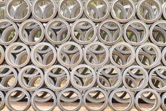 Concrete drainage pipes Stock Photos