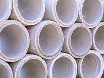 Concrete drainage pipes Royalty Free Stock Image