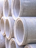 Concrete drainage pipes Royalty Free Stock Photos