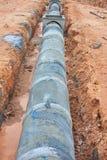Concrete drainage tank on construction site Stock Images