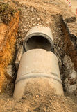 The Concrete drainage tank Stock Photography