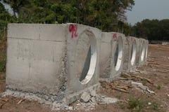 Concrete drainagepijpen royalty-vrije stock foto's