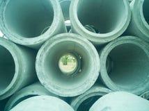 Concrete drainagepijpen stock foto