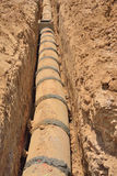 Concrete drains pipes. Stock Image