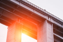 Concrete Elevated Highway Overpass Stock Photography