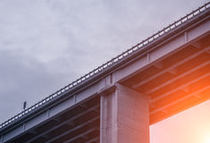 Concrete Elevated Highway Overpass Stock Image