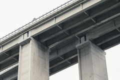 Concrete Elevated Highway Overpass Stock Images