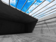 Concrete empty room interior architecture background Royalty Free Stock Images