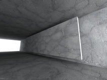 Concrete empty urban room. Dark stone walls. Architecture backgr Stock Photography