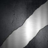 Concrete en geborstelde het metaalachtergrond van Grunge Stock Foto's