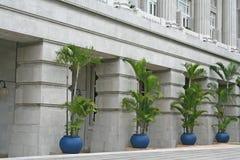 Concrete Exterior. A serene facade of a famous hotel royalty free stock photos