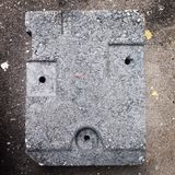 Concrete face. Concrete sign face eyes mouth square cube abstract art Royalty Free Stock Image