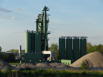 Concrete factory. Royalty Free Stock Photo