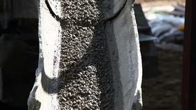 Concrete falling from mixer