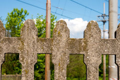 Concrete Fence - Italian Railways Stock Images
