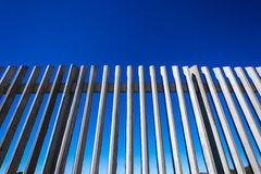 Concrete Fencing Detail Blue Royalty Free Stock Photography