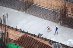 Concrete Finisher Royalty Free Stock Photo