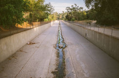 Concrete flood control channel Royalty Free Stock Photos