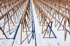 Concrete floor beams Royalty Free Stock Images