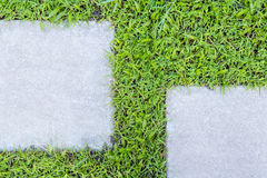 concrete floor and grass Royalty Free Stock Images