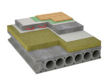 Concrete Floor Insulation Royalty Free Stock Photography