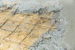 Concrete floor pouring Stock Photography