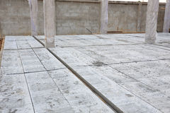 Concrete floor slab panel Stock Photo