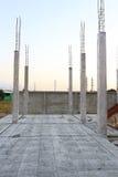 Concrete floor slab panel in building construction Royalty Free Stock Photos