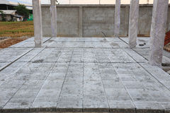 Concrete floor slab panel Royalty Free Stock Photography