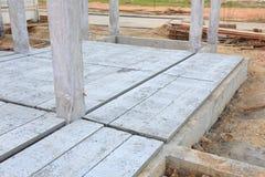 Concrete floor slab panel Royalty Free Stock Photos