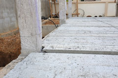 Concrete floor slab panel Stock Photography