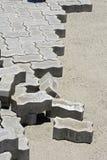 Concrete floor tiles in internal area street paving. Seropedica, RJ, Brazil - January 7, 2016 Royalty Free Stock Image