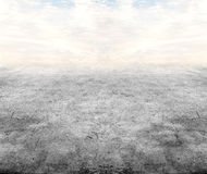 Concrete floor under sky Royalty Free Stock Images