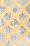 Concrete floor with yellow cross line Stock Image