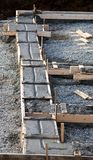 Concrete footing Royalty Free Stock Photography