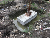 Concrete Footing / foundation Royalty Free Stock Images