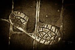 Concrete Footprint Royalty Free Stock Photo