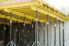 Concrete form at construction site Royalty Free Stock Photography