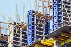 Concrete formwork Stock Images