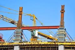 Concrete formwork and crane Stock Image