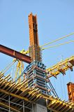 Concrete formwork and crane Stock Images