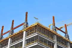 Concrete formwork and crane Stock Image