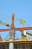 Concrete formwork and crane Stock Photos