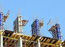 Сoncrete formwork and floor beams Royalty Free Stock Images