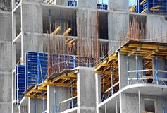 Concrete formwork and floor beams Stock Images