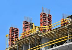 Concrete formwork and floor beams Stock Photography