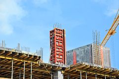 Concrete formwork and floor beams Royalty Free Stock Image