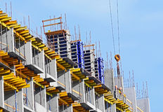 Concrete formwork and floor beams Royalty Free Stock Photography
