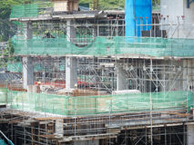 Concrete formwork of modern building Royalty Free Stock Photo